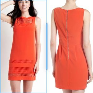 Julia Jordon Orange laser-cut shift dress
